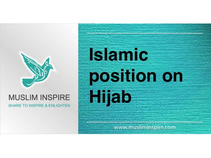 Islamic position on Hijab