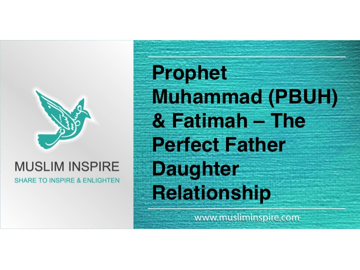 Prophet Muhammad (PBUH) & Fatimah – The Perfect Father-Daughter Relationship