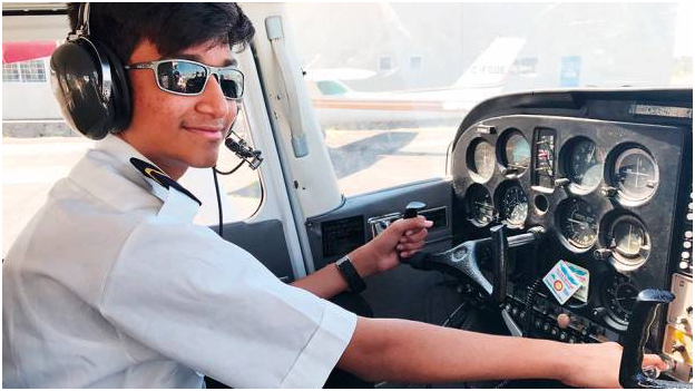 13 year old  pilot breaks the world record