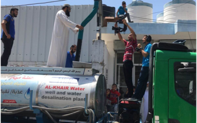 Imam Qasim is NOW in GAZA personally delivering your aid