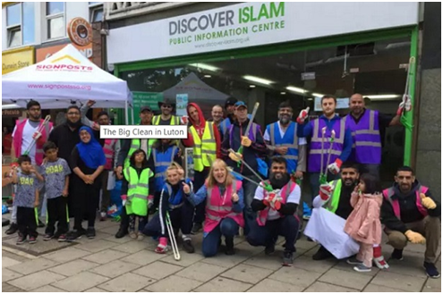 Luton Mosques Team Up to Clean City