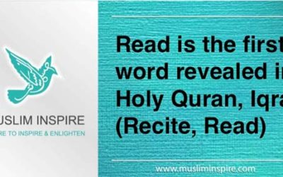 Read is the first word revealed in Holy Quran, Iqra (Recite, Read)