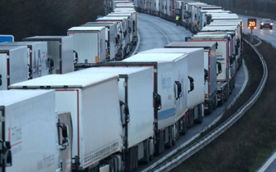 Muslim charities feed lorry drivers stuck near Dover over Christmas